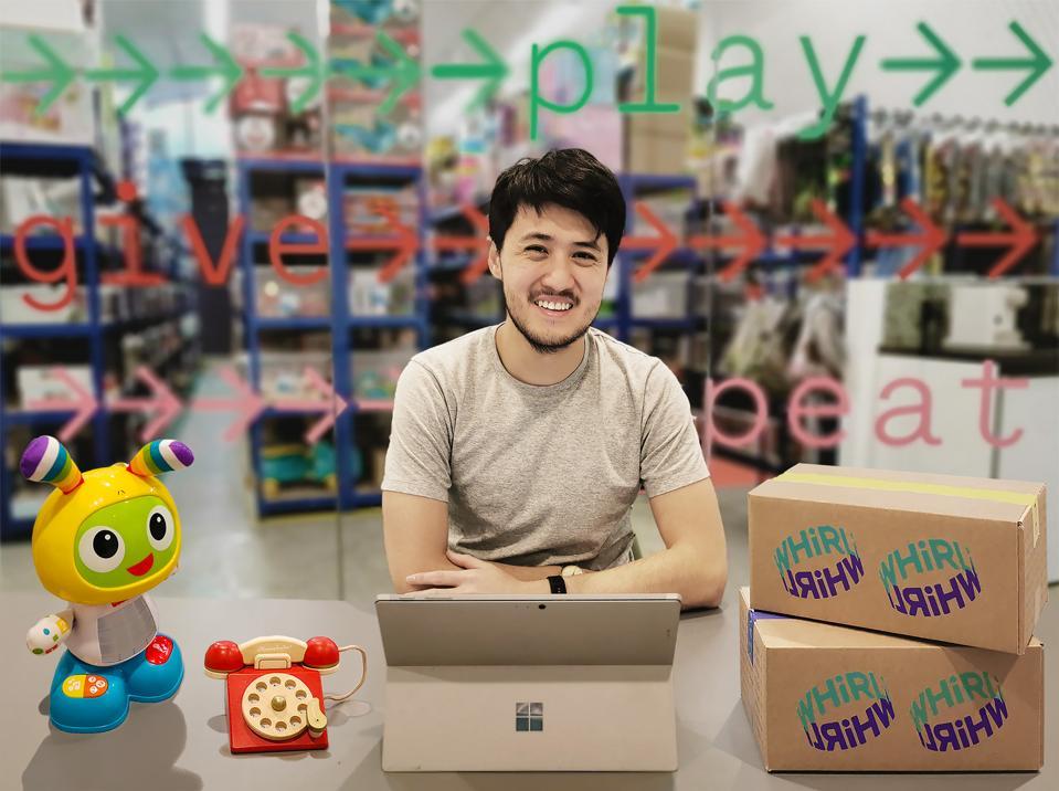 Nigel Phan's startup, Whirli