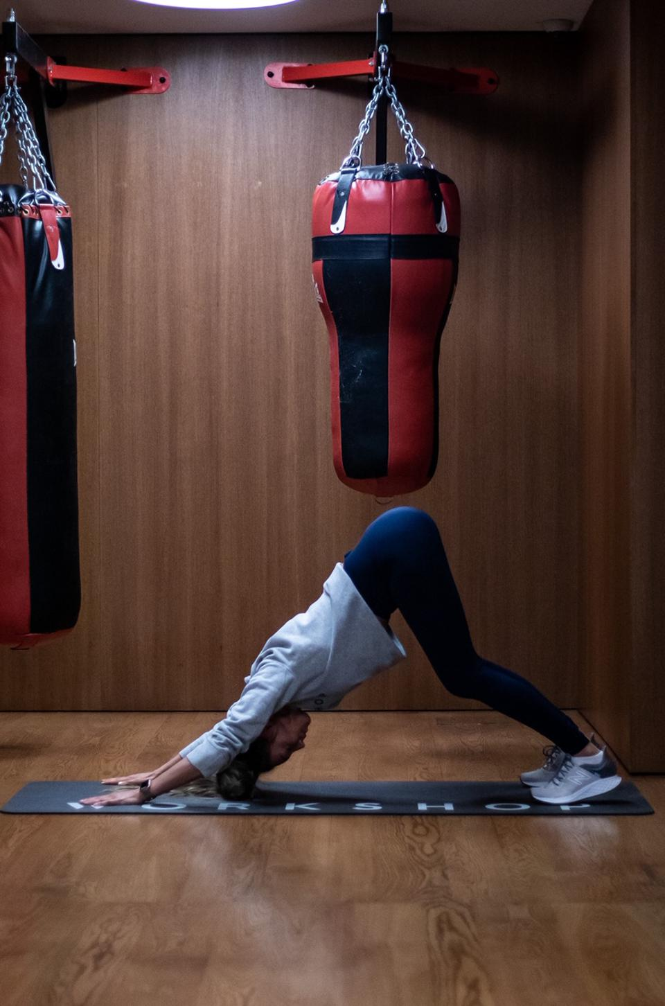 Downward Dog to High Plank to Push Up workshop