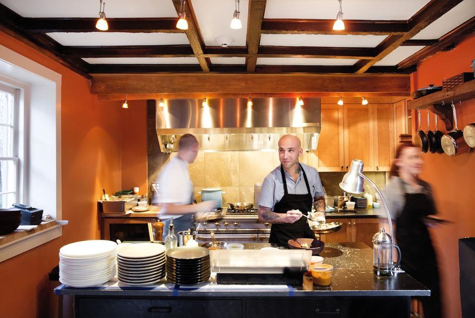 Chef Vinson Petrillo at Zero George Charleston South Carolina Cooking Class Fine Dining