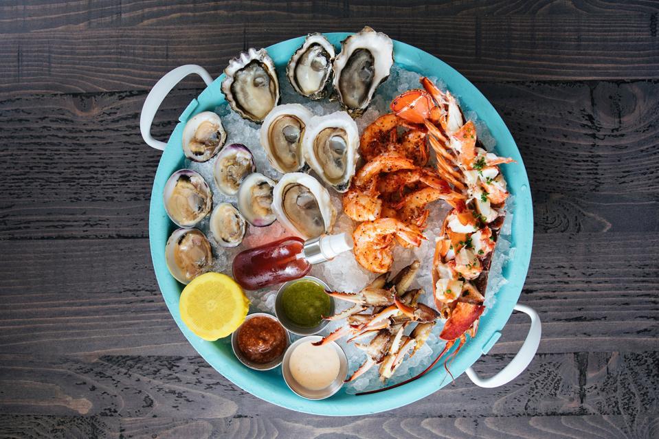 Delaney Oyster House Seafood Platter Charleston South Carolina Romantic Weekend Luxury