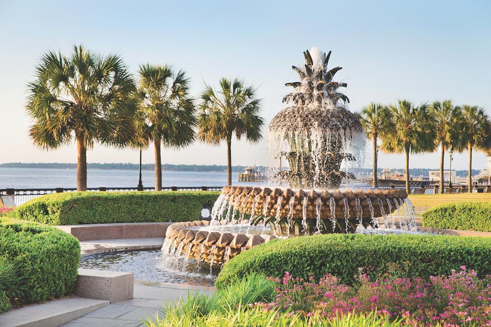 Waterfront Park Charleston South Carolina Romantic Weekend Luxury Travel Getaway Fountain