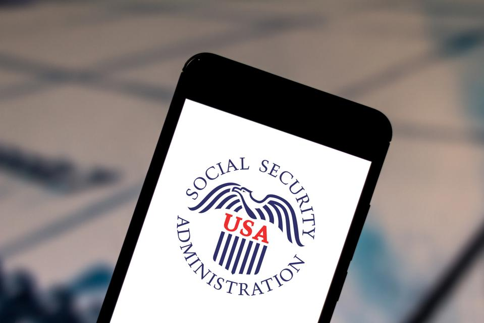 In this photo illustration a Social Security Administration...
