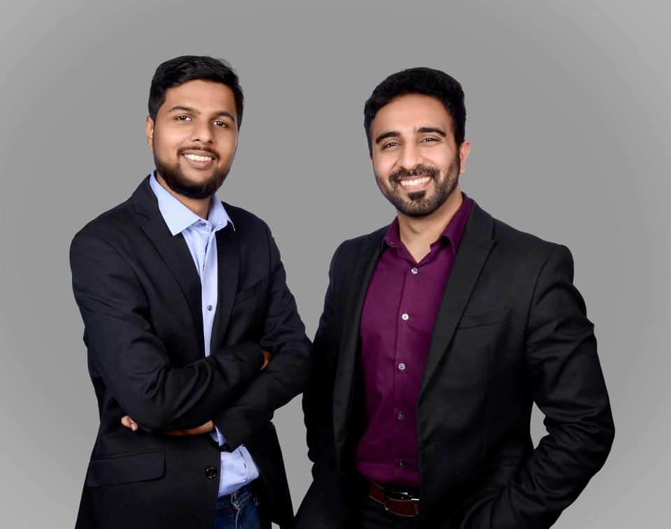 Samarth Setia and Abhishek Goel, cofounders of Mr.Milkman.