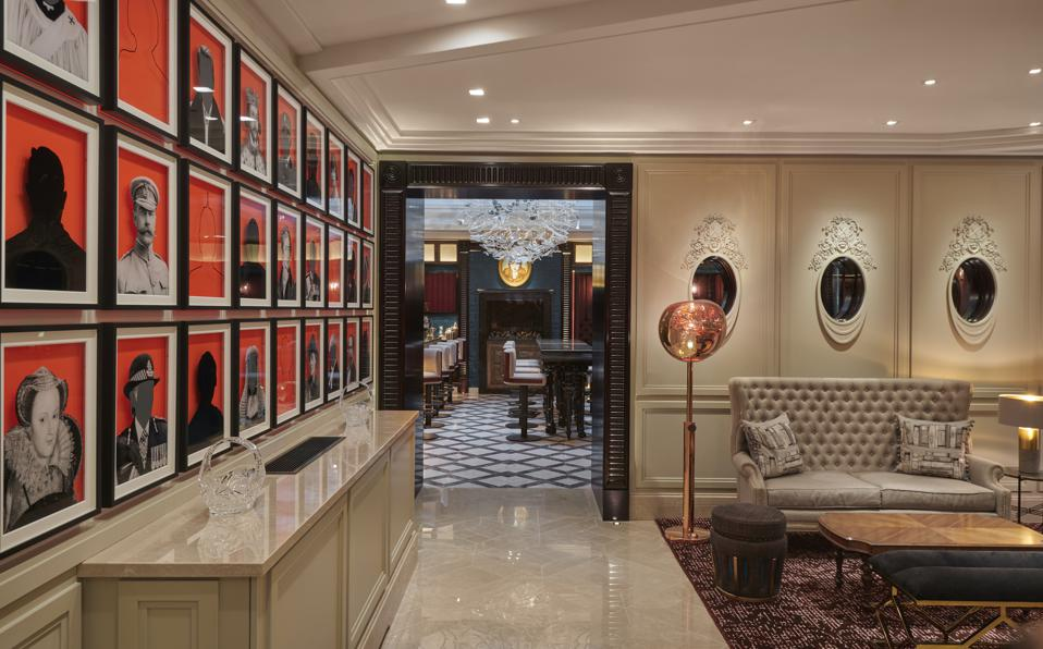The lobby at Great Scotland Yard Hotel