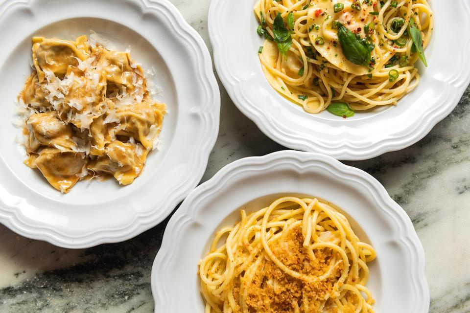 Da Toscano's pasta, served at the West Village restaurant.