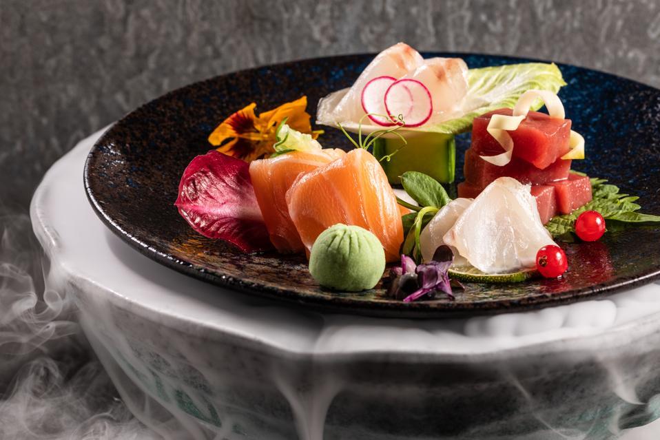 Sashimi platter at TOKii