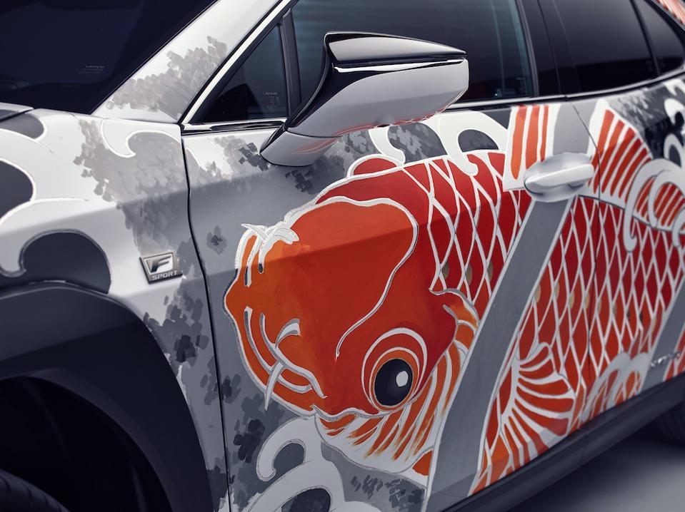Lexus UX tattoo art car