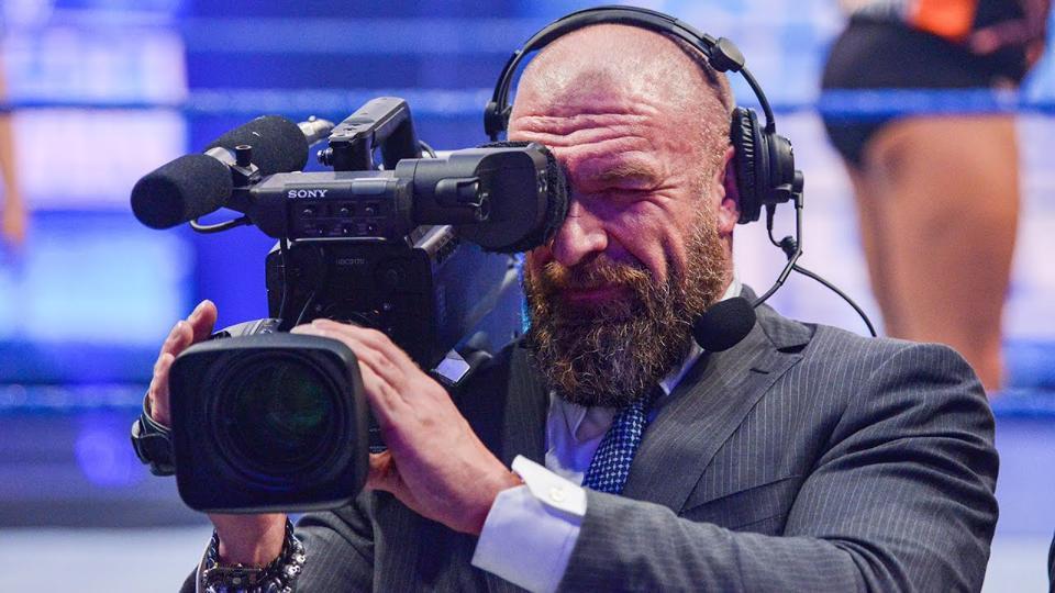 WWE Triple H coronavirus COVID-19 WrestleMania 36 Performance Center cameraman