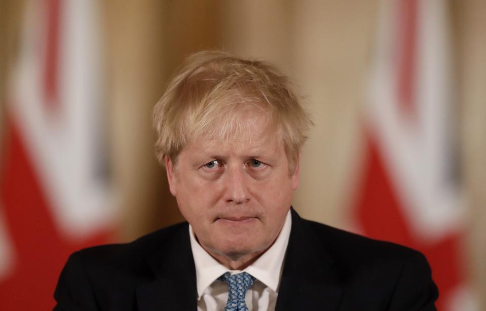 Boris Johnson Holds Daily Coronavirus Briefing