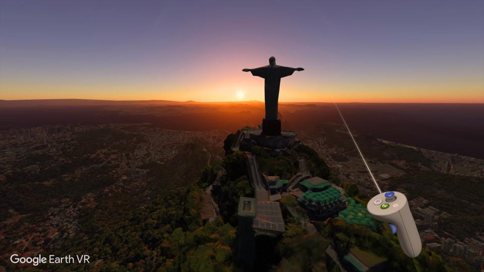 Google earth VR screenshot oculus go rio de janiero
