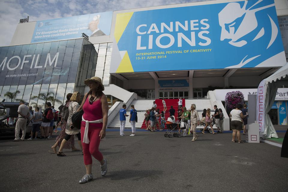 Pedestrians during the Cannes Lions International Festival Of Creativity in 2014.