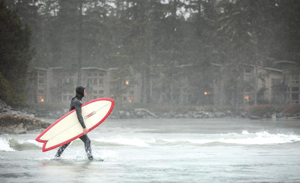Pacific Sands Beach Resort surfer