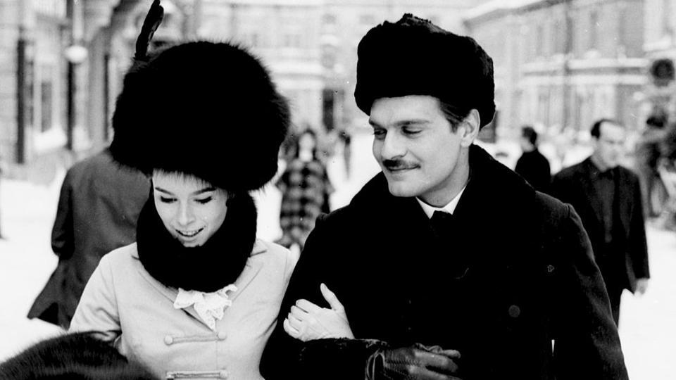 Geraldine Chaplin and Omar Sharif