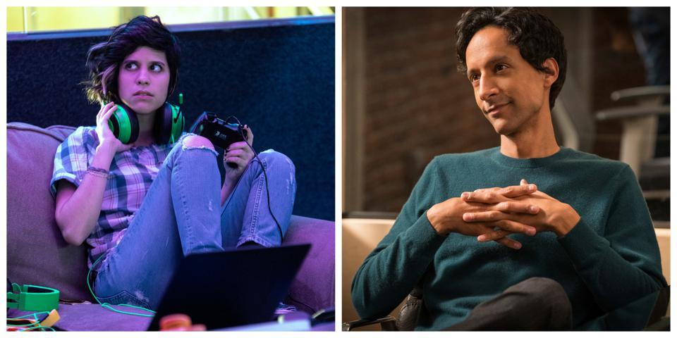 Ashly Burch & Danny Pudi in ″Mythic Quest″