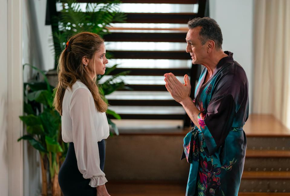 Amanda Peet stars as Jules and Hank Azaria as Jim Brockmire in ″Brockmire.″