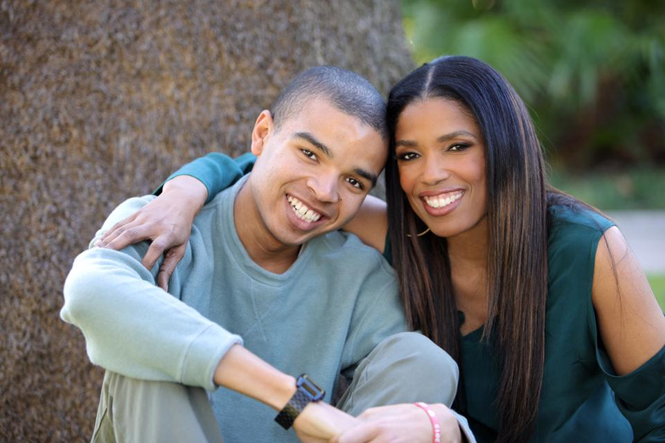 Areva Martin with son Marty, diagnosed with autism at age 2.