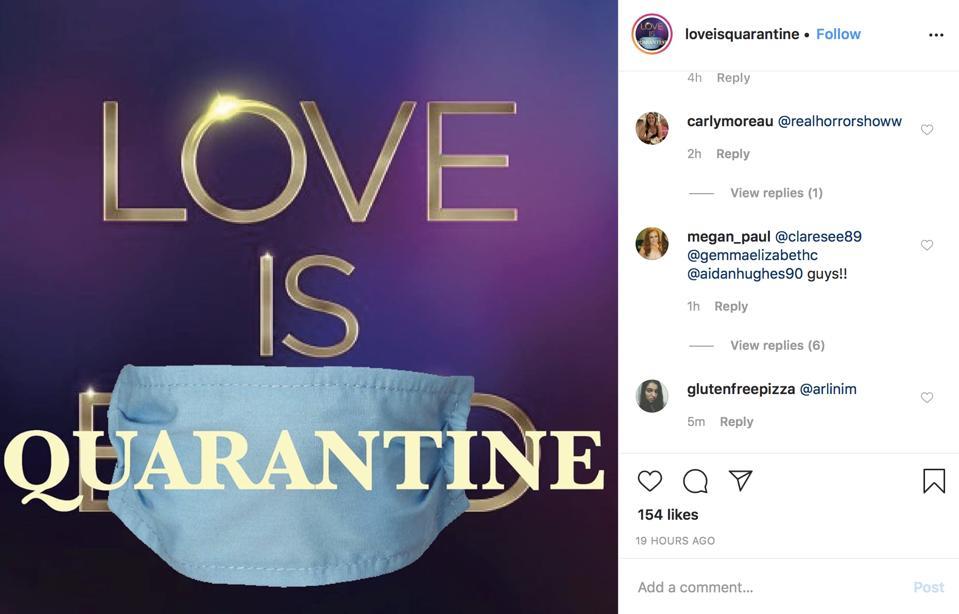 love is quarantine, coronavirus, love is blind, dating
