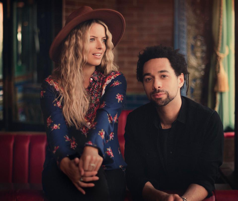 Country music duo The Shires
