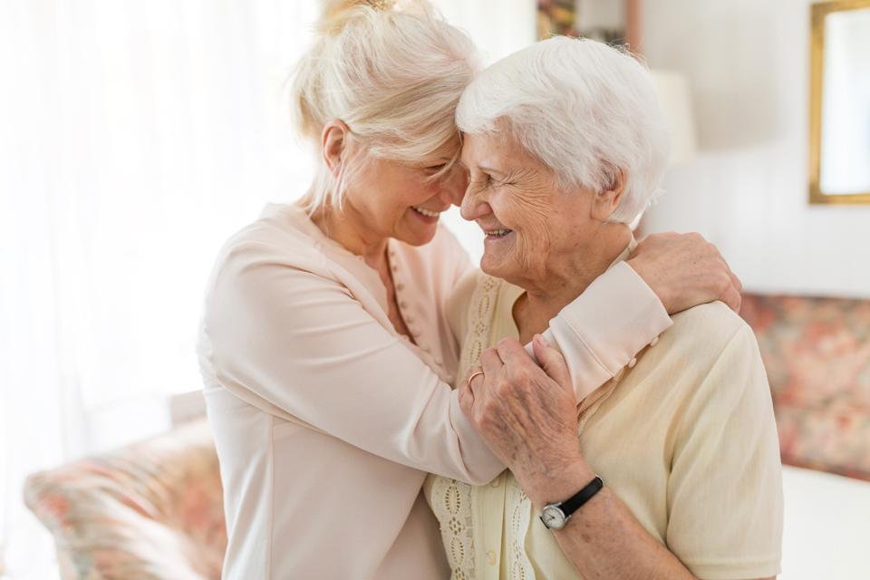 Senior woman spending quality time with her daughter.