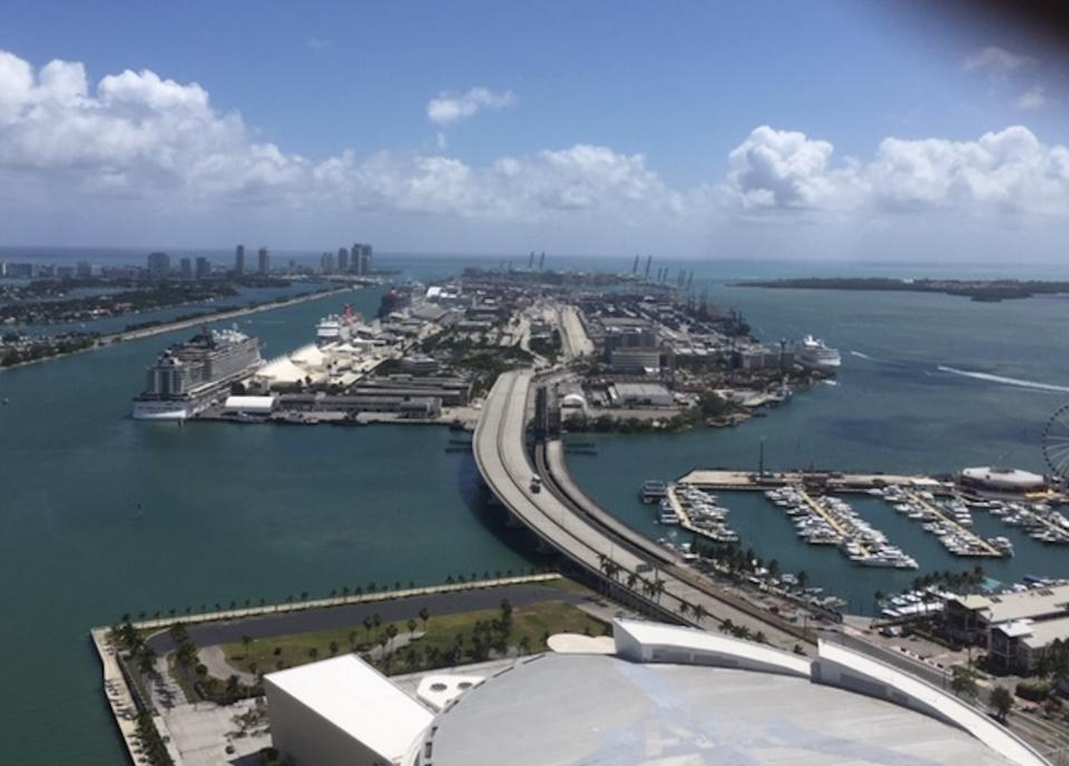 Ships in Port of Miami idled by Covid-19 Coronavirus