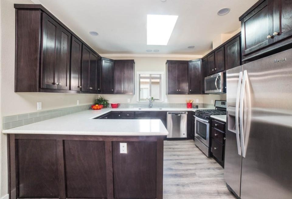 The new kitchen in one of the houses in Canoga Park.