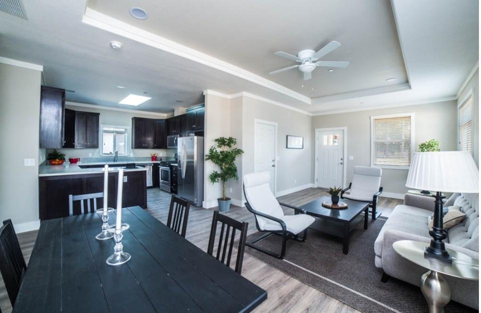 The floorpan is very open and bright in the houses in Canoga Park.