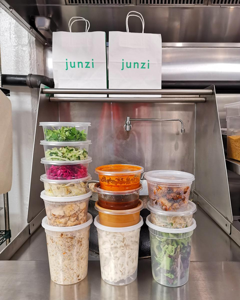 Junzi Kitchen's new family meal take-out order.