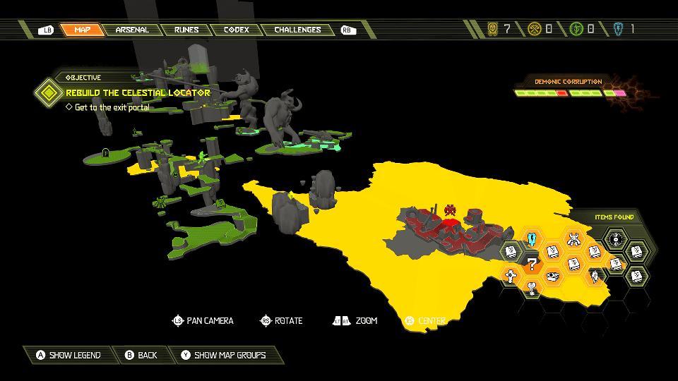 The tactical map in DOOM Eternal.