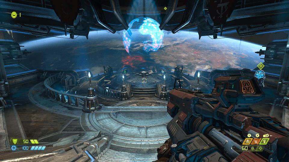 The fortress in space in DOOM Eternal.
