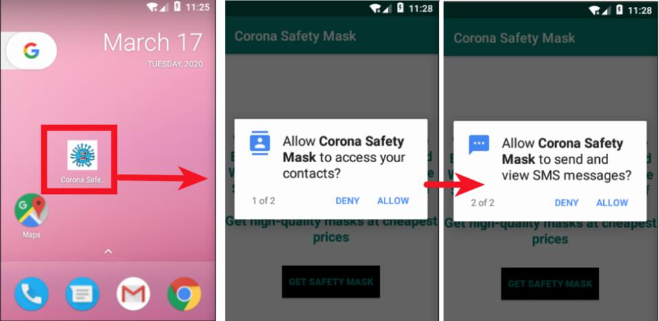Malicious Android app steals contact information and spams contacts.