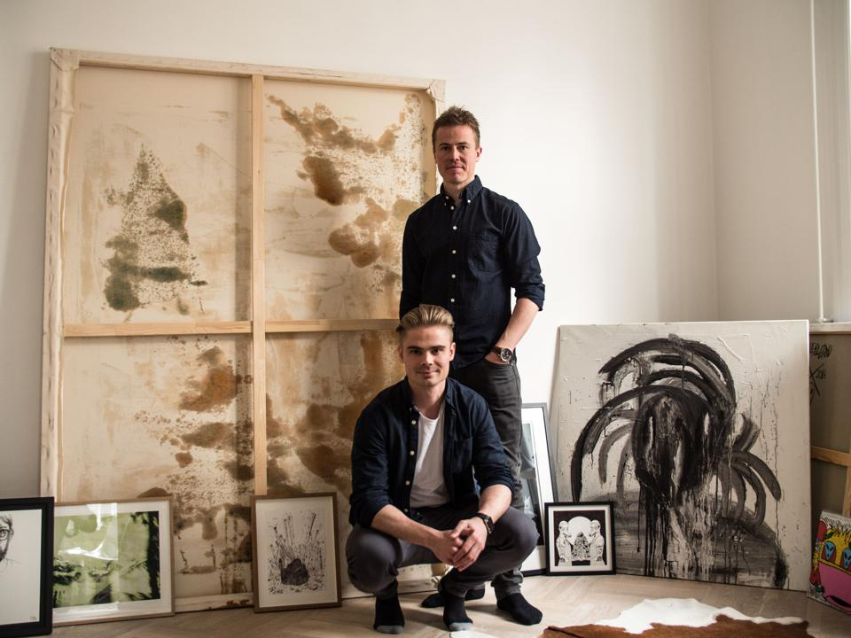 Jeppe Curth, standing, and Mattis Curth, the co-founders of Artland.