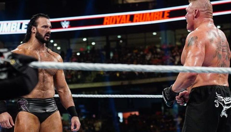WWE Royal Rumble 2020: Drew McIntyre faces off with Brock Lesnar