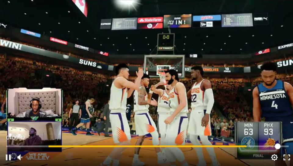 The Phoenix Suns took on the Minnesota Timberwolves in a simulated matchup in NBA 2K.