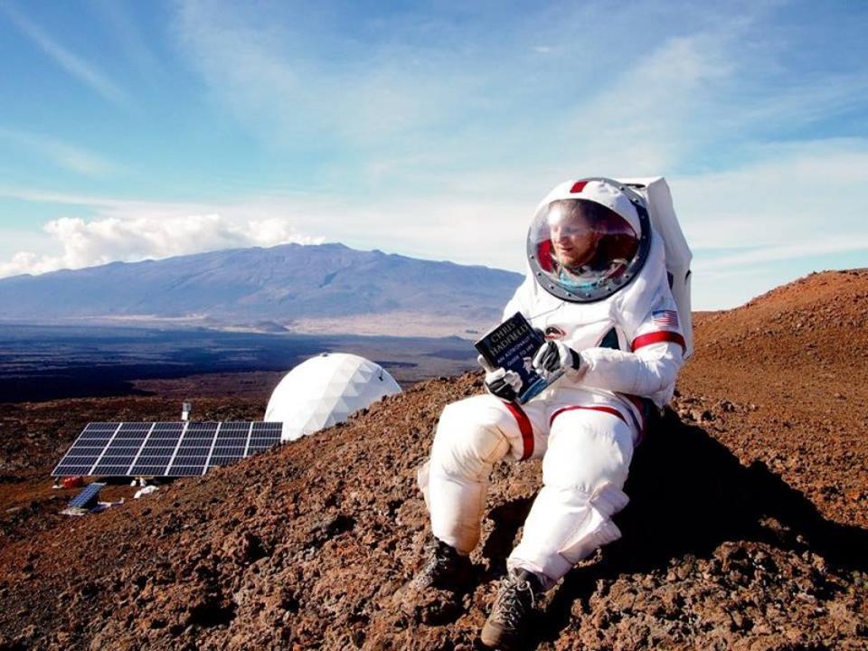 Astronaut on Mauna Kea