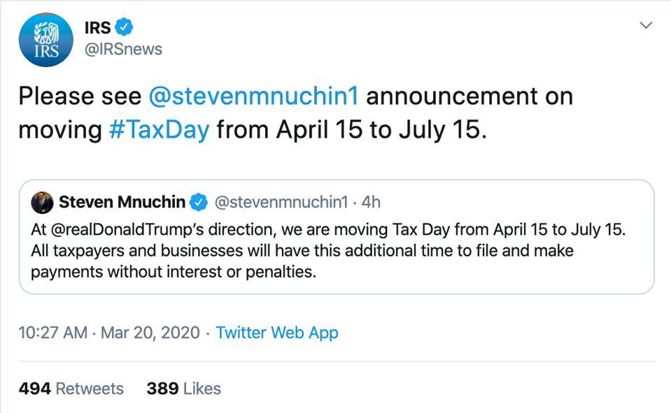 IRS tweet