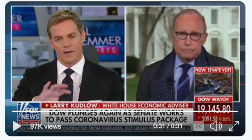 In the interview Kudlow revealed one executive offered assistance in building ventilators