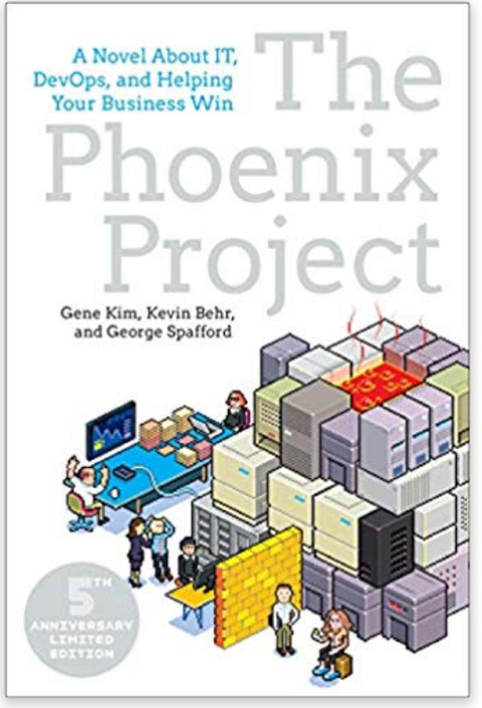 Cover image of The Phoenix Project by Gene Kim