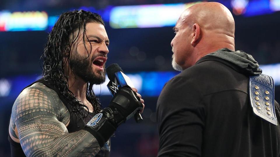Roman Reigns Goldberg WrestleMania 36