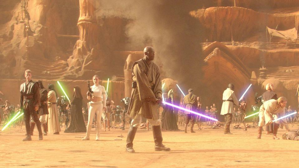 Samuel L. Jackson stars in 'Star Wars: Attack of the Clones'