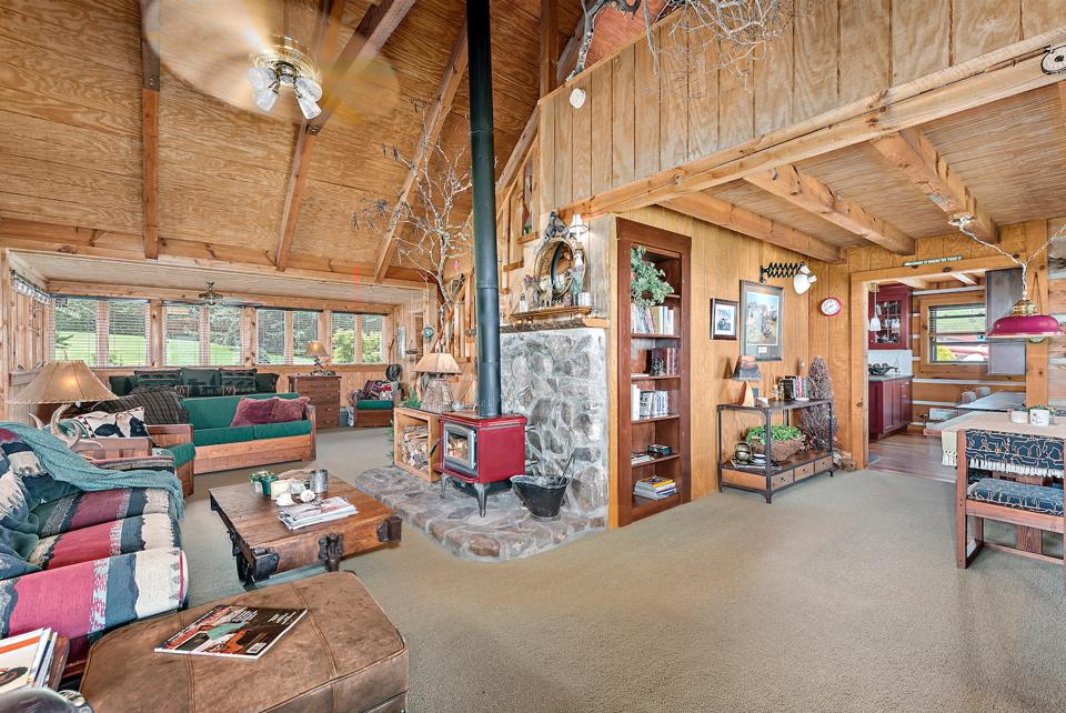 Cabin 1 is a traditional southern charm cabin, powered by wind and solar energy