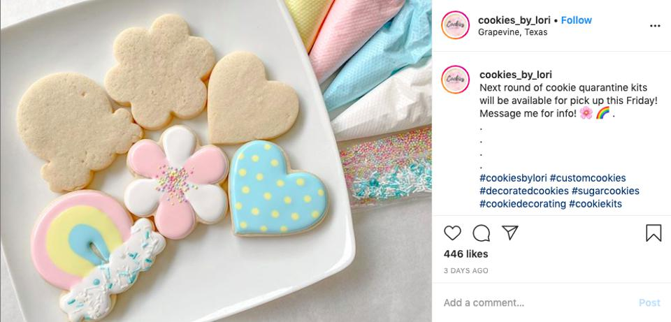 Instagram Page of Cookies by Lori