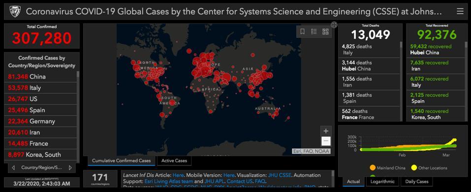 Coronavirus Map Johns Hopkins