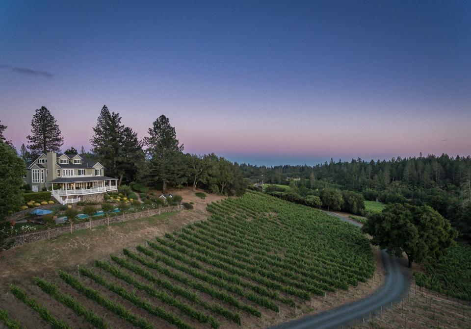 Lail vineyards on Howell Mountain, Napa Valley, California