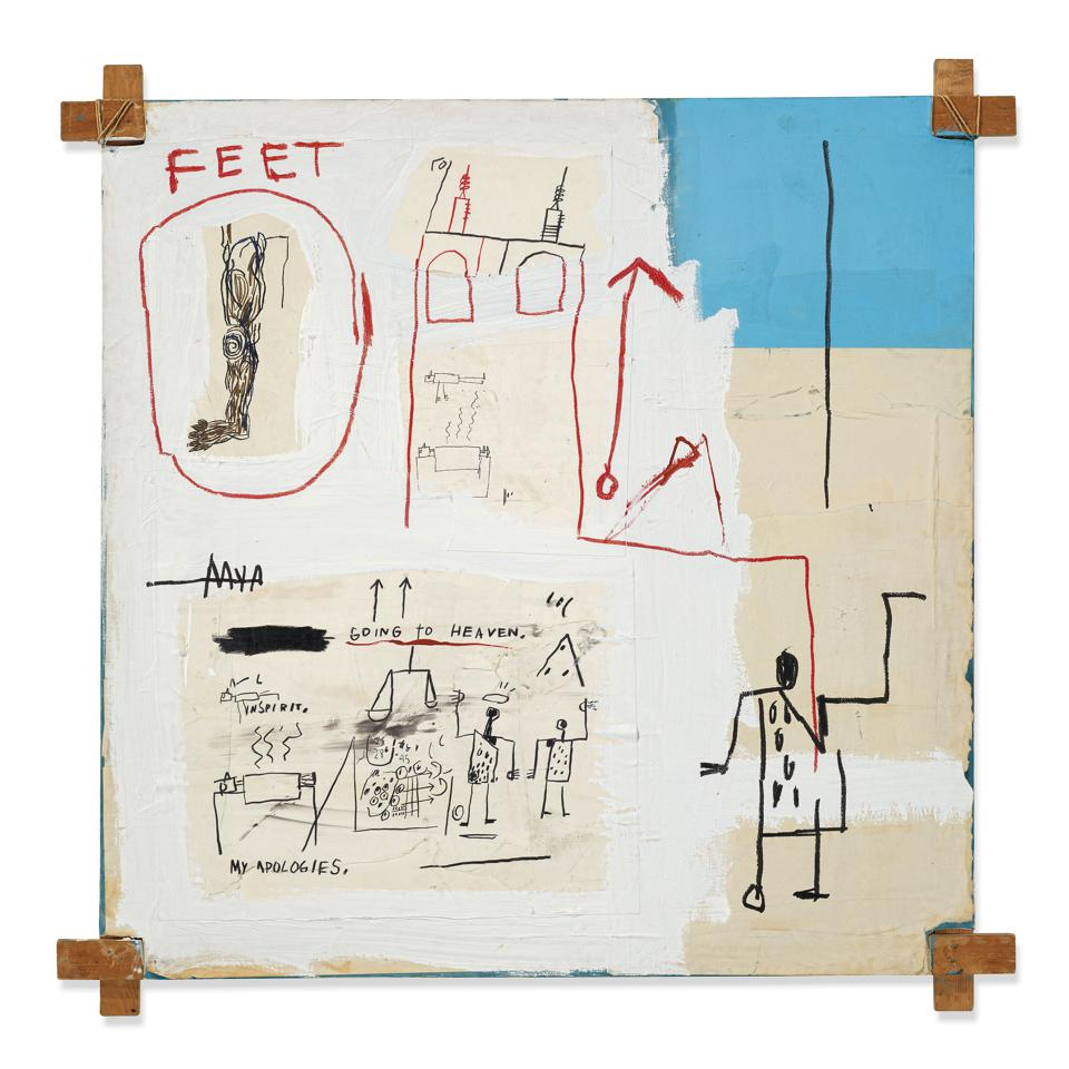 Jean-Michel Basquiat's 'The Mosque,' 1982. Available from Masterworks.