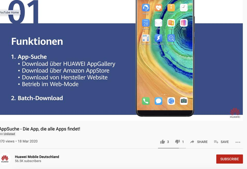 AppSearch - Huawei Video.