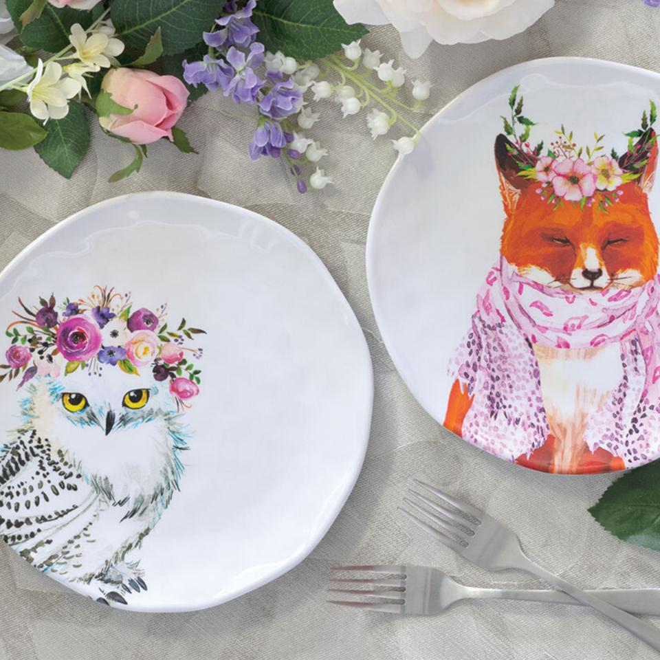 Melamine plates, outdoor plates, interior design, tabletop
