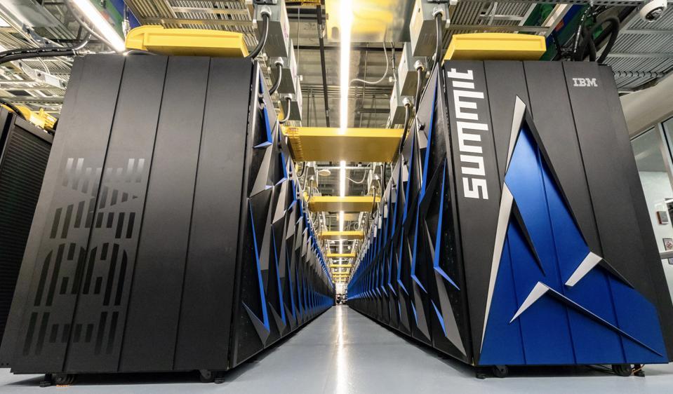 The Summit supercomputer.