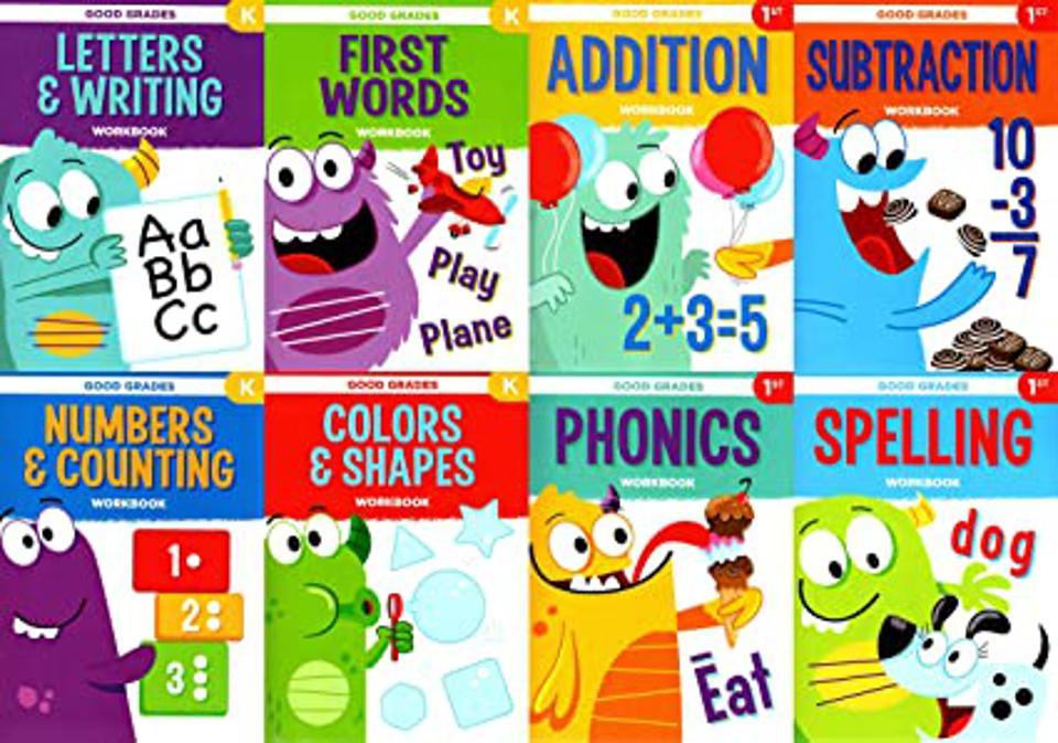 Good Grades First Grade Educational Workbooks