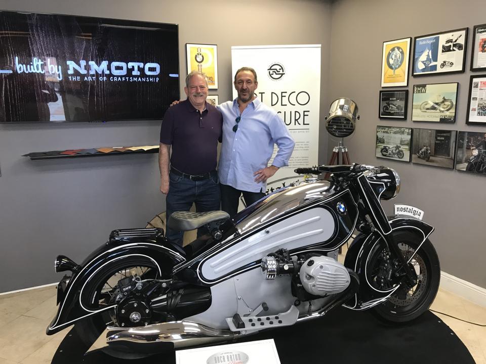 Klaus Kutscher, left, and Alex Niznik at NMOTO's shop in Florida.