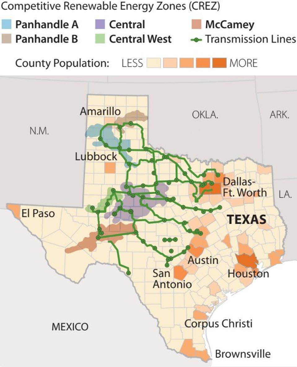 Competitive Renewable Energy Zones in Texas.